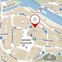 Mapa Krumlova