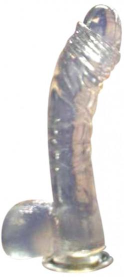 Dildo gélové prísavka číre 17 * 3 cm
