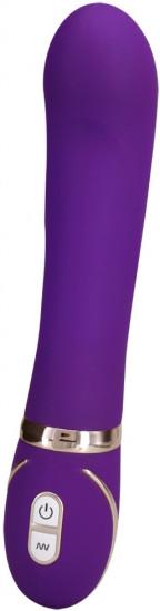 Vibrátor Front Row Purple, s dvojitým silikónom