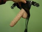 Pripínací gélový penis 18 cm