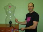 Análny kolík nafukovacie s vibrácií a prísavkou - Adam