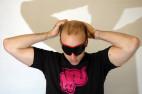 Adam a Kožená maska na oči BlackRed