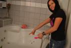 Vibrátor H2O Drop Pink strieka vodu