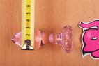 Análny kolík Flower Glass Plug s metrom