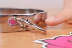 Kovový obojok Choker - krúžok