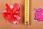 Mydlové konfety Little Hearts - meriame veľkosť