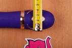 Vibrátor Front Row Purple - priemer u rukojeni
