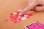 Mydlové konfety Little Hearts - na stole
