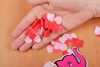 Mydlové konfety Little Hearts - v dlani