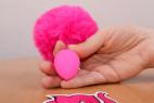 Análny kolík Pinky Bunny - s rukou