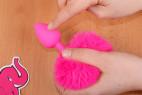 Análny kolík Pinky Bunny - s prstom