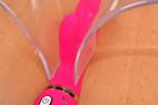 Vibrátor Raspberry Rabbit, s dvojitým silikónom - takto by vyzeral vnútri