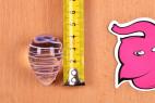 Vajíčka Pure Glass - meranie vajíčka na výšku, výška je 4,2 cm