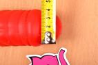 Silikónový vibrátor Big Muscle - meriame priemer žaluďa
