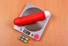 Silikónový vibrátor Big Muscle - na váhe bez batérií