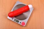 Silikónový vibrátor Big Muscle - na váhe s batériami