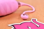 Vibračné vajíčko Pink Love, pútko na vajíčku