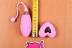 Vibračné vajíčko Pink Love, celková dĺžka