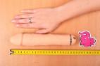 Silikónový vibrátor Natural Dick, celková dĺžka vedľa ruky