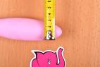 Silikónový vibrátor Pink Lover, priemer špičky