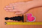 Análny kolík Black Cascade s prísavkou, celková dĺžka aj s rukou