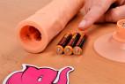 Silikónový vibrátor s prísavkou Long Touch, meníme batérie