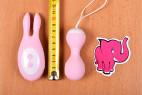Vibračné vajíčko BOOM Rabbit & Balls, celková dĺžka