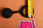 Erekčný krúžok Bubble Blower - meriame priemer menšieho krúžku
