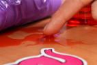 Shiatsu hrejivý masážny olej - olej na stole a dildo