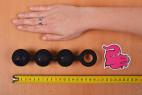 Análne guličky Black Trio - meriame dĺžku