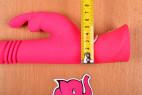 Vibrátor Bunny Hammer - meriame najširšia časť vibrátora