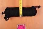 Bondážne lano Soft Touch - meriame šírku dlhšieho lana