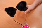 Sada Pussycat - fotenie čelenky s uškami