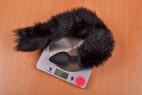Sada Pussycat - vážime análny kolík, stolný váha ukazuje 108 g