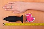 Vibračný análny kolík Smooth Fantasy - meriame dĺžku kolíka