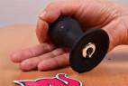 Vibračný análny kolík Smooth Fantasy - veľký, v ruke