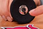 Vibračný análny kolík Smooth Fantasy - veľký, záber na tlačidlo