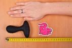 Vibračný análny kolík Pulsing Pleasure - meriame dĺžku kolíka