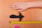 Vibračný análny kolík Prostate Jet - meriame dĺžku kolíka