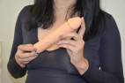 Silikónový vibrátor Natural Dick, Karin