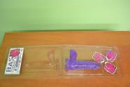 Dildo s prísavkou fialové 17cm