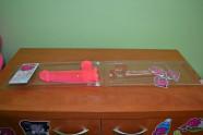 Dildo s prísavkou ružové 21 cm