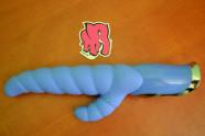 Vibrátor Modrá húsenica - silikón