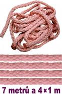 Bondážne lano 7m + 4 × 1m