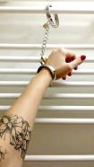 Kovové putá Chained Love, sa zámky a retiazkou