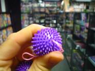 """Guličky mäkké \ """"ježko \"""" fialové"""