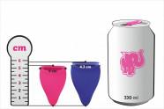 Menštruačné kalíšky Fun Cup - rozmery