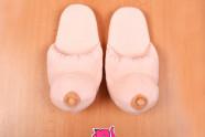 Papuče s prsiami - fotenie v predajni Ružový Slon Havířov