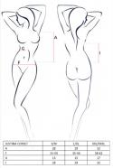 Odvážny korzet Justi s odhalenými prsiami, rozmery
