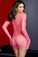 Sieťované šaty Hot Pink